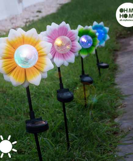 xekios Fleur Solaire avec LED Multicolore Oh My Home