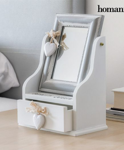 xekios Boîte à bijoux en bois avec miroir et tiroir Queen Homania