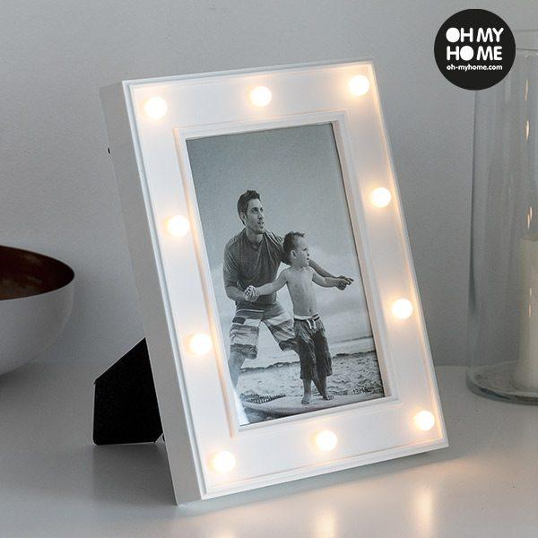 xekios Cadre Photos LED de Bureau Oh My Home