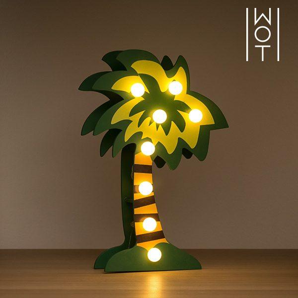 xekios Palmier Décoratif en Bois Wagon Trend (8 LED)