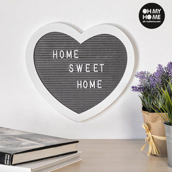 xekios Tableau pour Chiffres et Lettre Coeur Oh My Home