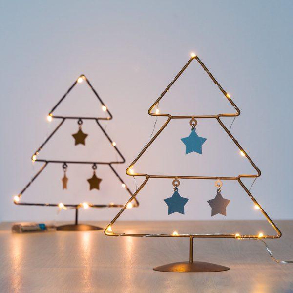 xekios Sapin de Noël avec des Étoiles (10 LED)
