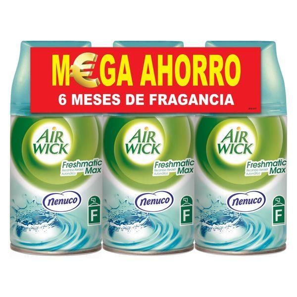 xekios Recharge pour Diffuseur Air Wick FreshMatic Triple Nenuco 3 x 250 ml