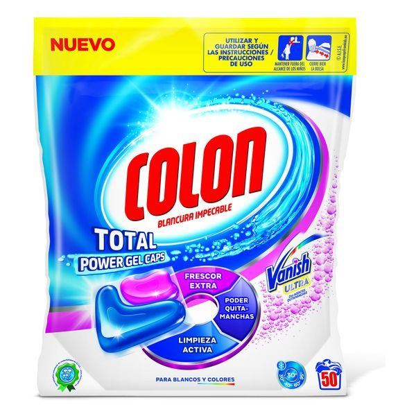 xekios Détergent Pour les Vêtements Colon Total Power Vanish (50 Doses)