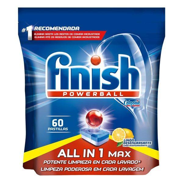xekios Tablettes pour Lave-vaisselle Finish Tout en 1 Citron (60 Doses)