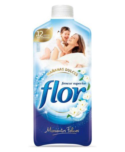xekios Adoucissant pour les Vêtements Flor Moments Matinées Douces 1,4 L (64 Doses)