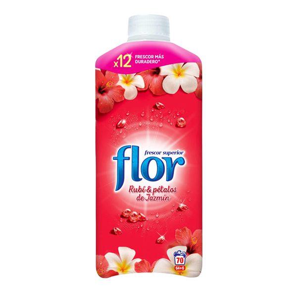 xekios Adoucissant Concentré Flor Rouge Rubis & Pétales de Jasmin 1.5 L (70 doses)