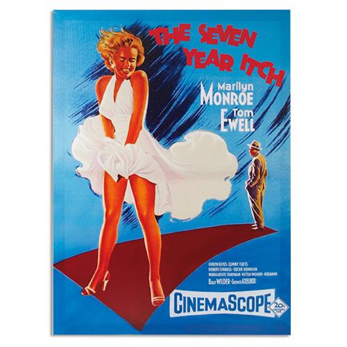 xekios Affiche de Ciné Marilyn Monroe The Seven Year Itch