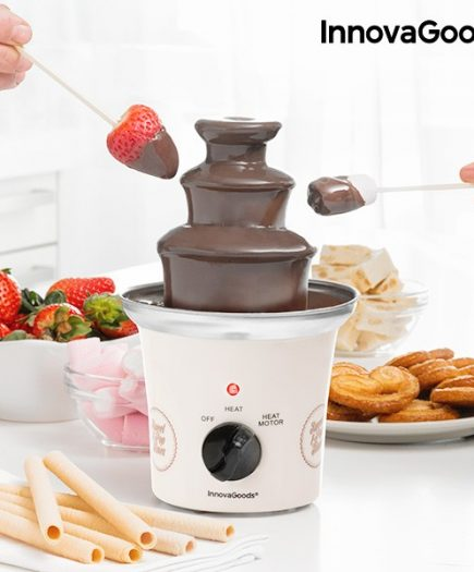 xekios Fontaine de Chocolat Sweet & Pop Times InnovaGoods 70W Blanc Acier