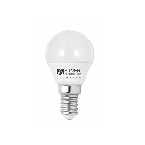 xekios Ampoule LED Sphérique Silver Electronics ECO E14 4W Lumière chaude