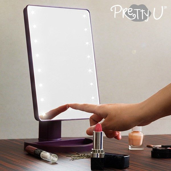 xekios Miroir LED de Table Pretty U
