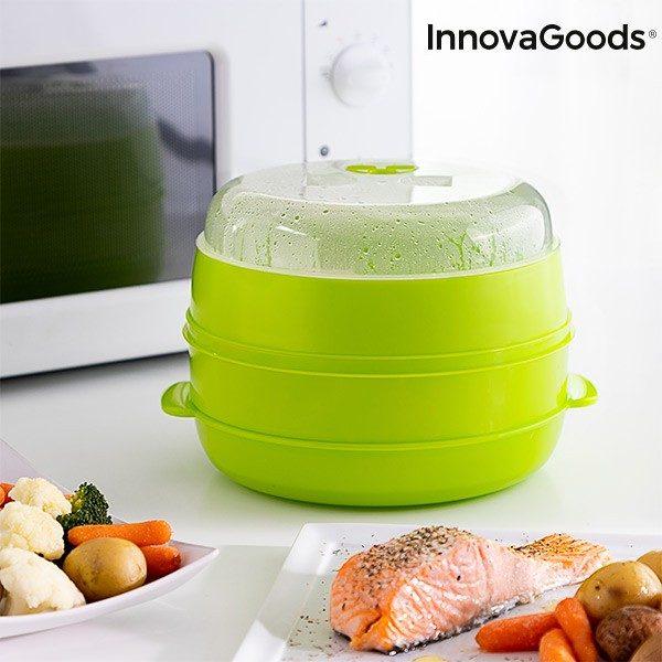xekios Cuiseur-Vapeur Double pour Micro-Ondes Fresh InnovaGoods